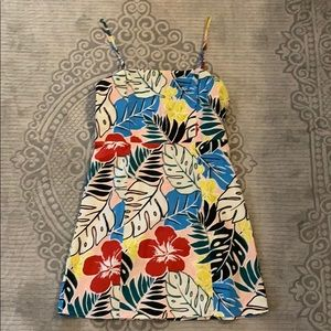 Forever21 Multi-Color Tropical Print Dress, size M